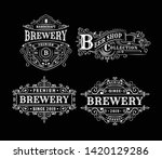 set of vintage brewery label... | Shutterstock .eps vector #1420129286