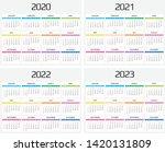 calendar 2020  2021  2022  2023 ...   Shutterstock .eps vector #1420131809