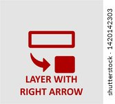 filled layer with right arrow... | Shutterstock .eps vector #1420142303
