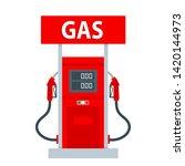 Gas Pump Station Vector Flat...