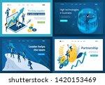 set design web page templates... | Shutterstock .eps vector #1420153469