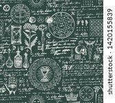 vector seamless background on... | Shutterstock .eps vector #1420155839