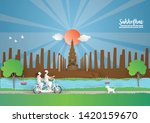 travel and tourism concept to... | Shutterstock .eps vector #1420159670