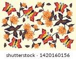 indonesian batik designs with...   Shutterstock .eps vector #1420160156