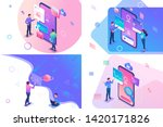 set isometric concept with...   Shutterstock .eps vector #1420171826
