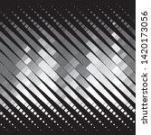 monochrome geometric vector... | Shutterstock .eps vector #1420173056