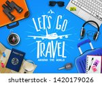 travel or tourism concept with... | Shutterstock .eps vector #1420179026