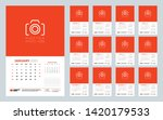 calendar for 2020 year. wall... | Shutterstock .eps vector #1420179533
