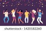 party dancers. happy young... | Shutterstock .eps vector #1420182260
