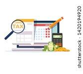 online tax payment vector... | Shutterstock .eps vector #1420194920