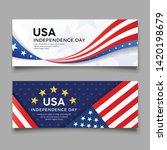 happy independence day vector ... | Shutterstock .eps vector #1420198679
