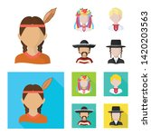 vector illustration of imitator ... | Shutterstock .eps vector #1420203563