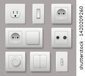 wall switch. power electrical... | Shutterstock .eps vector #1420209260