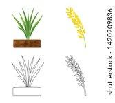 vector design of crop and... | Shutterstock .eps vector #1420209836