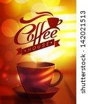 vector coffee poster | Shutterstock .eps vector #142021513