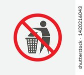 do not litter  keep it clean ... | Shutterstock .eps vector #1420216043
