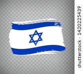 israel flag isolated. flag of...
