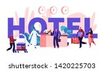 people in hotel concept.... | Shutterstock .eps vector #1420225703