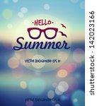 summer poster. vector  | Shutterstock .eps vector #142023166