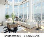 modern design living room with... | Shutterstock . vector #142023646