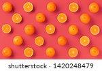 fruit pattern of fresh orange... | Shutterstock . vector #1420248479