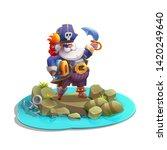 cute cartoon pirate with...