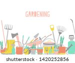 modern horizontal backdrop with ...   Shutterstock . vector #1420252856