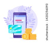 internet payment with mobile... | Shutterstock .eps vector #1420256093