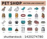 pet shop vector color flat line ... | Shutterstock .eps vector #1420274780