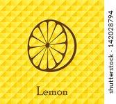 citrus retro lemon fruit... | Shutterstock .eps vector #142028794