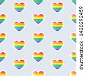 rainbow striped hearts icons...   Shutterstock .eps vector #1420292459