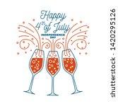 vintage 4th of july design in... | Shutterstock .eps vector #1420295126