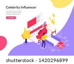 landing page template of... | Shutterstock .eps vector #1420296899