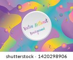 sliced wavy background ... | Shutterstock .eps vector #1420298906