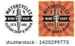 spark plug vector emblem  badge ... | Shutterstock .eps vector #1420299773