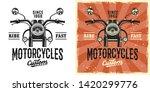 motorcycles custom service... | Shutterstock .eps vector #1420299776