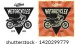 motorcycle vector emblem  badge ... | Shutterstock .eps vector #1420299779