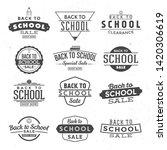 back to school typographic... | Shutterstock .eps vector #1420306619