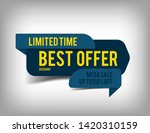 best offer  discount tag  sale... | Shutterstock . vector #1420310159