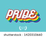 pride month  pride text whith... | Shutterstock .eps vector #1420310660