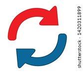 reload icon. flat illustration... | Shutterstock .eps vector #1420311899