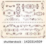 elegant design elements for...   Shutterstock .eps vector #1420314509