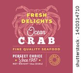 fresh seafood delights premium... | Shutterstock .eps vector #1420314710