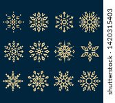 snowflakes icon collection.... | Shutterstock .eps vector #1420315403