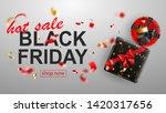 black friday sale banner. gift...   Shutterstock .eps vector #1420317656