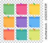 set of 9 colorful sheets of... | Shutterstock .eps vector #1420319339