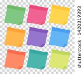 set of 9 colorful sheets of... | Shutterstock .eps vector #1420319393