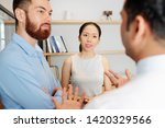 young business colleagues... | Shutterstock . vector #1420329566