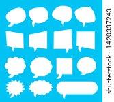white blank cartoon speech... | Shutterstock .eps vector #1420337243