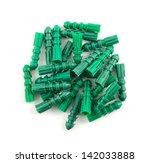 green plastic dowel pin pile... | Shutterstock . vector #142033888